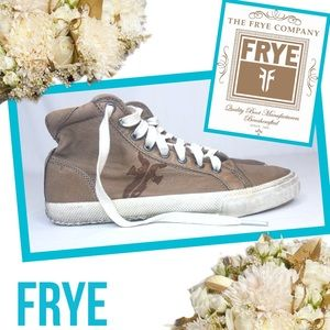 "FRYE ""Kira"" Copper/Tan Leather High Top Sneakers"